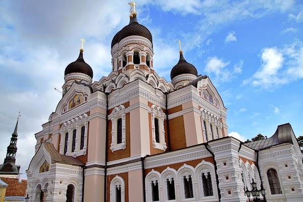 Popular tourist site Alexander Nevsky Cathedral in Tallinn