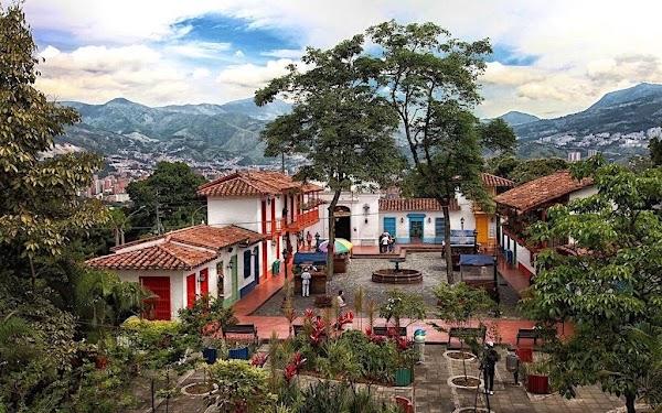 Popular tourist site Nutibara Hill in Medellin