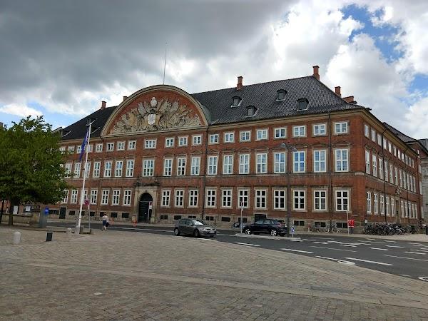 Popular tourist site Christiansborg Palace in Copenhagen