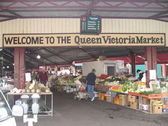 Popular tourist site Queen Victoria Market in Melbourne
