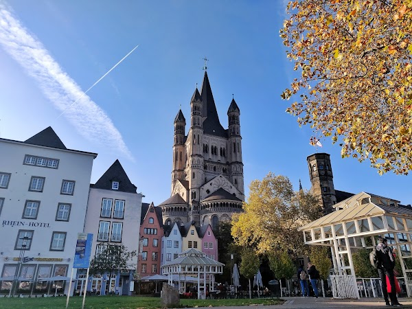 Popular tourist site Great St. Martin Cathedral in Cologne