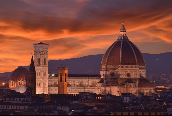 Popular tourist site Cathedral of Santa Maria del Fiore in Florence