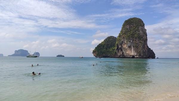 Popular tourist site Phra Nang Beach in Krabi
