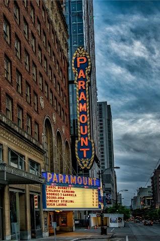 Paramount Theatre banner backdrop