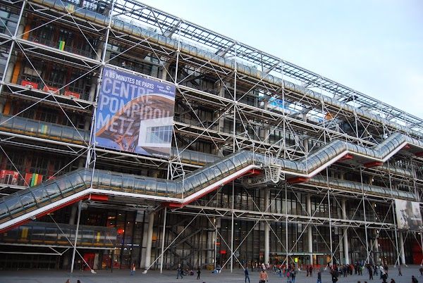 Popular tourist site The Centre Pompidou in Paris
