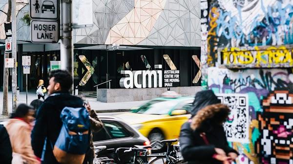Popular tourist site ACMI (Australian Centre for the Moving I in Melbourne