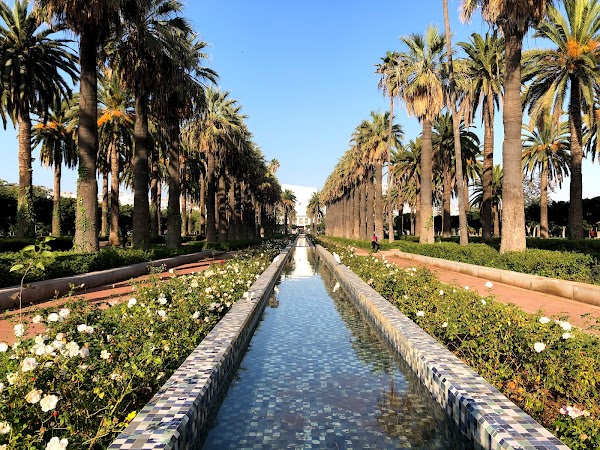 Popular tourist site Arab League Park in Casablanca