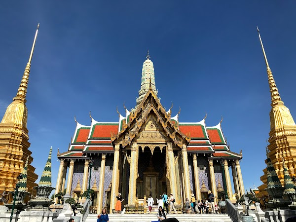 Popular tourist site Temple of the Emerald Buddha in Bangkok