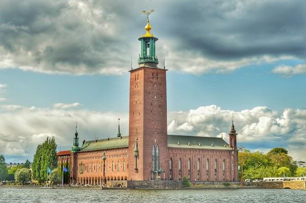 Popular tourist site Stockholm City Hall in Stockholm