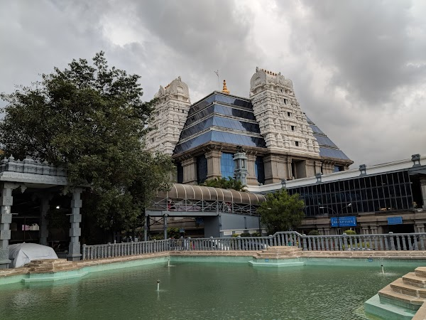 Popular tourist site ISKCON Temple Bangalore in Bengaluru