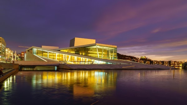 Popular tourist site Oslo Opera House in Oslo