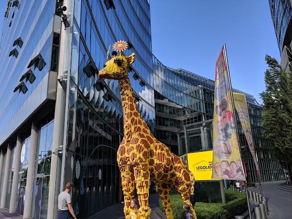 Popular tourist site Potsdamer Platz in Berlin