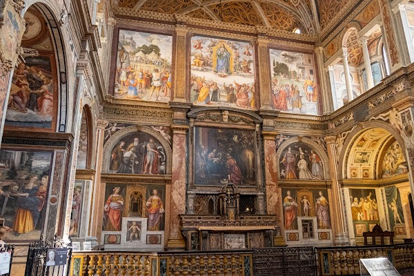 Popular tourist site Church of St. Maurice in Major Monastery in Milano