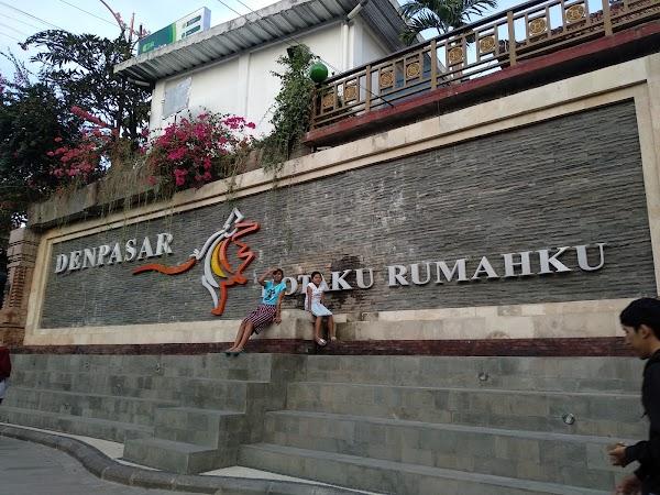 Popular tourist site Badung Market in Denpasar City
