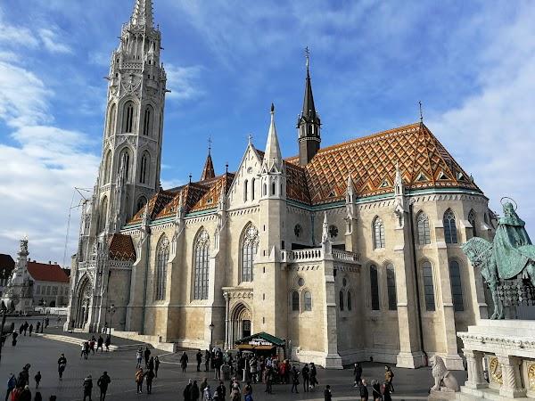 Popular tourist site Matthias Church in Budapest