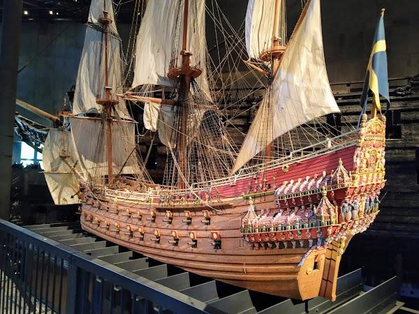 Popular tourist site Vasa Museum in Stockholm