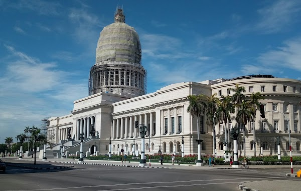Popular tourist site National Capitol building in Havana