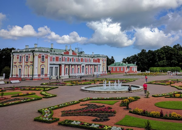Popular tourist site Kadriorg Park in Tallinn