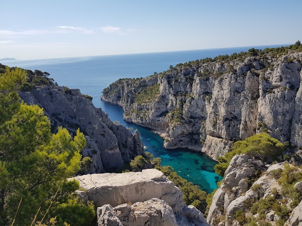 Popular tourist site Parc national des Calanques in Provence