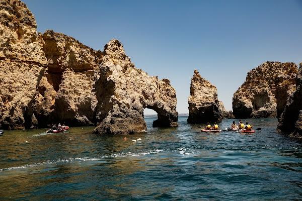 Popular tourist site Ponta da Piedade in Algarve