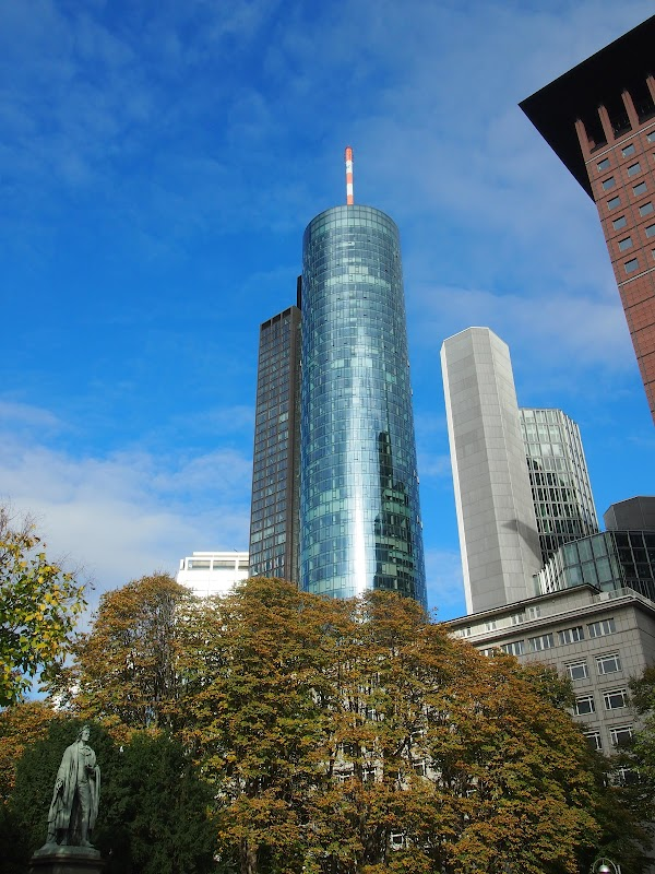 Popular tourist site Main Tower in Frankfurt