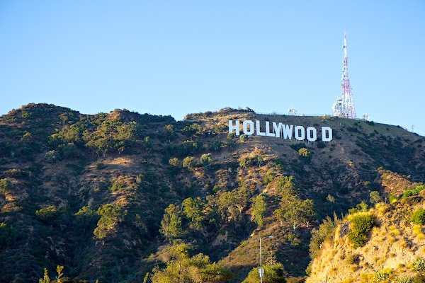 Popular tourist site Hollywood Sign in Los Angeles