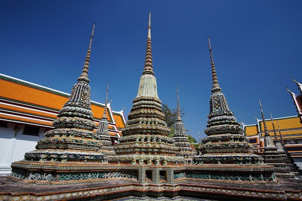 Popular tourist site Wat Phra Chetuphon (Wat Pho) in Bangkok
