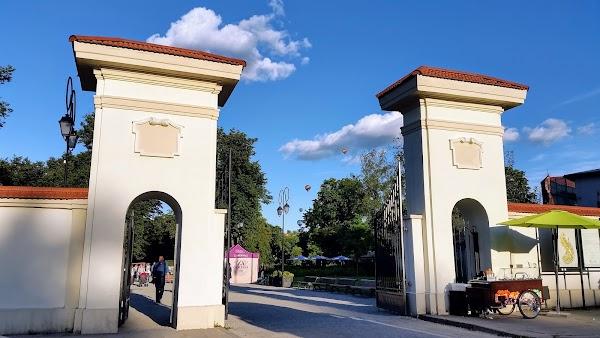 Popular tourist site Bernardine Park in Vilnius