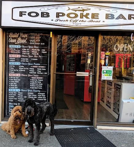 FOB Poke Bar banner backdrop