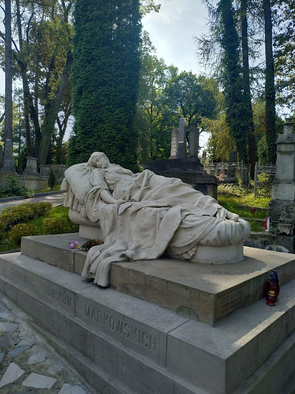 Popular tourist site Lychakiv Cemetery in Lviv