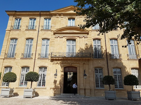 Popular tourist site Hôtel de Caumont in Provence
