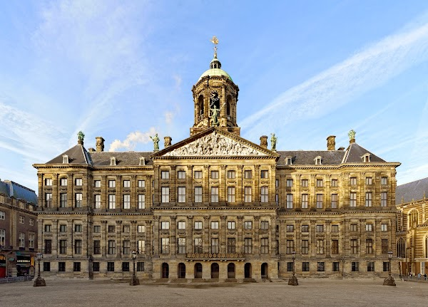 Popular tourist site Royal Palace Amsterdam in Amsterdam