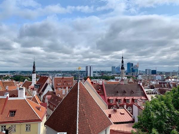 Popular tourist site Kohtuotsa viewing platform in Tallinn