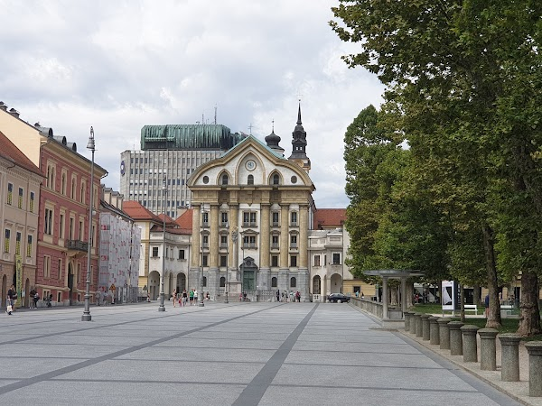 Popular tourist site Congress Square in Ljubljana