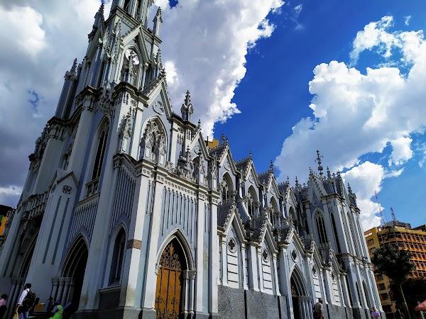 Popular tourist site La Ermita Church in Cali