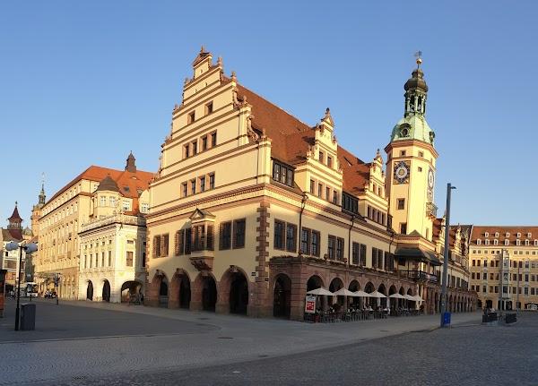Popular tourist site Markt in Leipzig