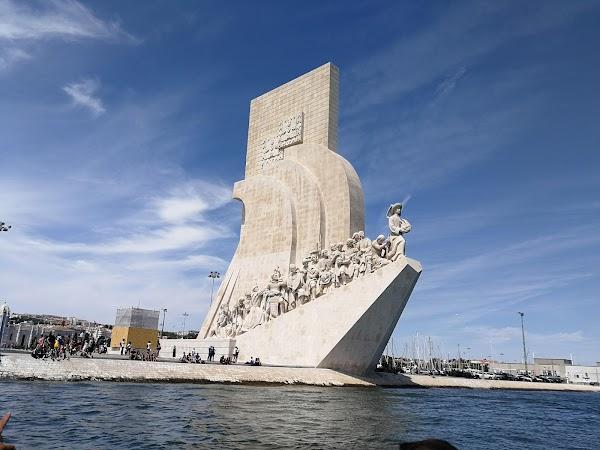 Popular tourist site Padrão dos Descobrimentos in Lisbon