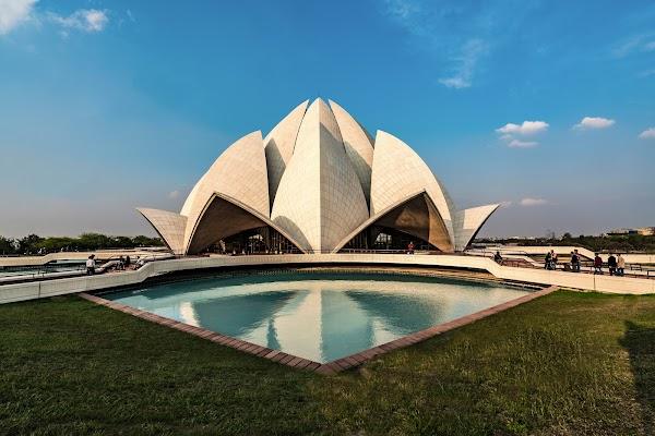 Popular tourist site Lotus Temple in New Delhi