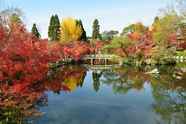 Popular tourist site Eikan-do Zenrin-ji in Kyoto