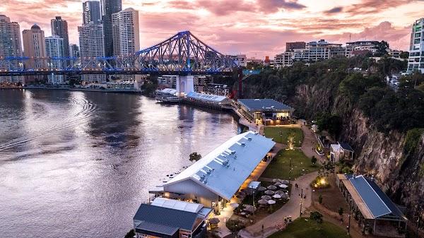 Popular tourist site Howard Smith Wharves in Brisbane City