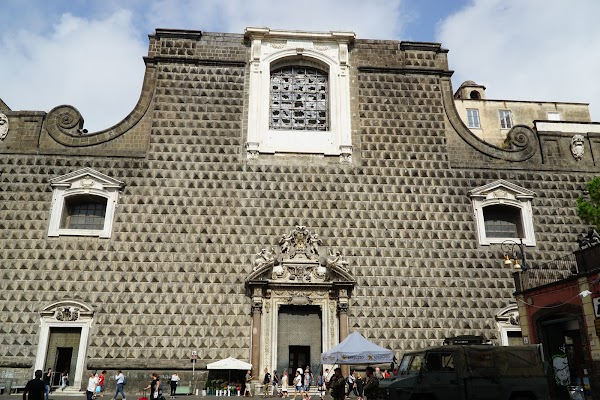 Popular tourist site Church of Jesus 'Nuovo' in Naples
