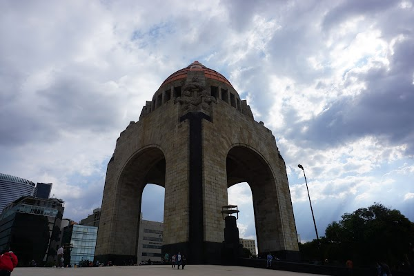 Popular tourist site Monument to the Revolution in Mexico City