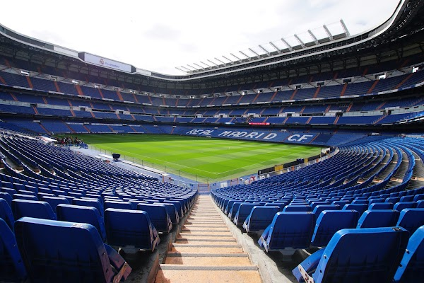 Popular tourist site Santiago Bernabéu Stadium in Madrid