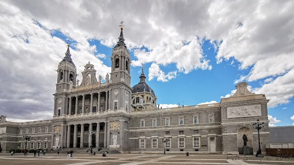 Popular tourist site Catedral de la Almudena in Madrid