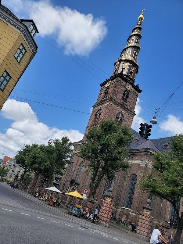 Popular tourist site Church of Our Saviour in Copenhagen