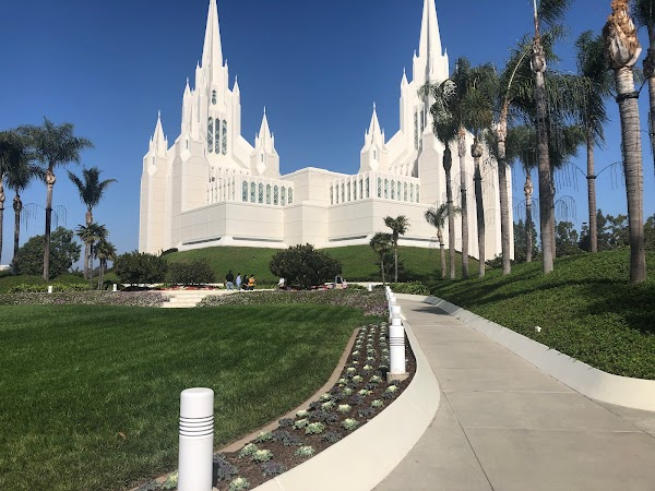 Popular tourist site San Diego California Temple in San Diego