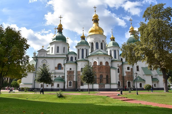 Popular tourist site St. Sophia's Cathedral in Kyiv