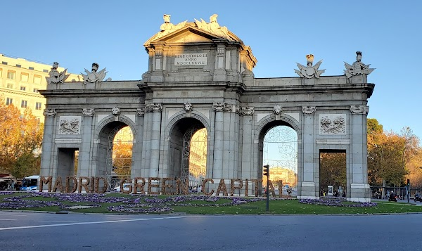 Popular tourist site Puerta de Alcalá in Madrid