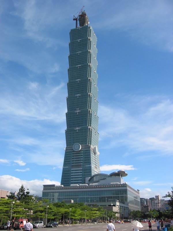 Popular tourist site Taipei 101 Observatory in Taipei