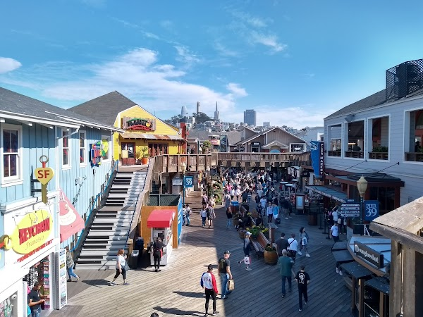 Popular tourist site PIER 39 in San Francisco